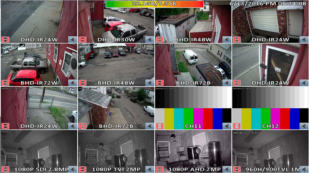 Пример картинки системы видеонаблюдения