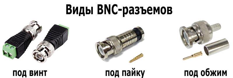 Виды BNC-разъемов